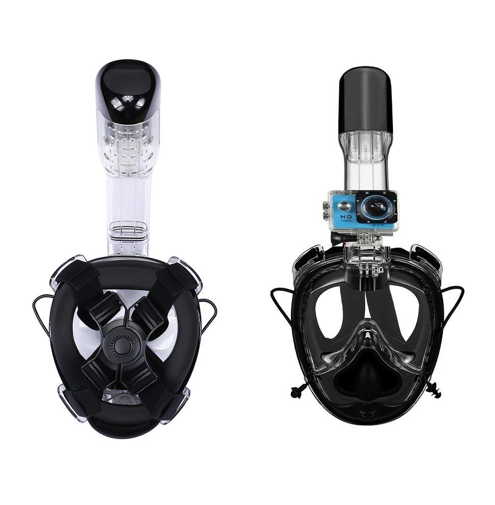 RKD universal size full face snorkel mask with go pro mount R20GS