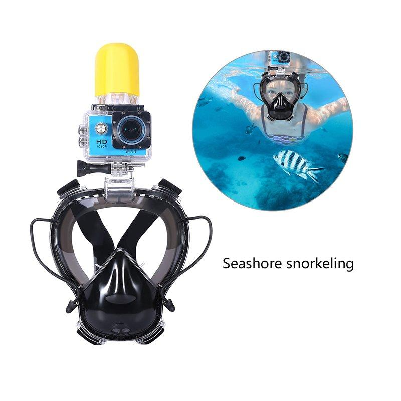 RKD one-piece full face snorkel mask for Kids with go pro mount  K10G