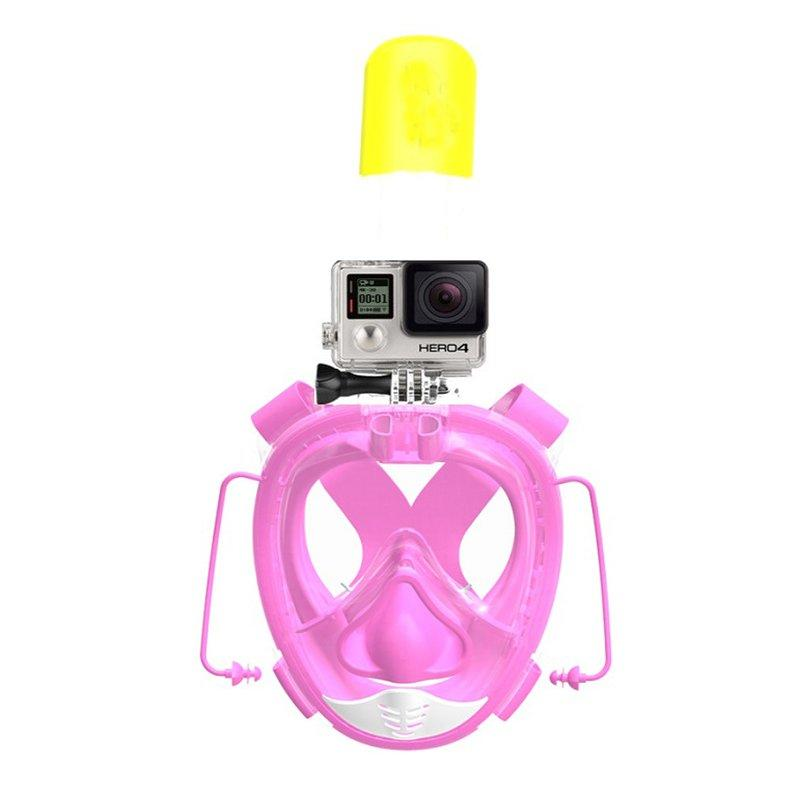 RKD universal size full face snorkel mask with go pro mount R20G