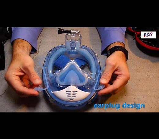 RKD 2nd Generation earplug equalizer full face snorkel mask introduction video-part 1