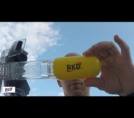 RKD R10 Wide View Snorkel Mask For Adults Dry Top Testing Video