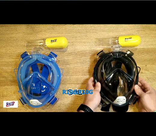 RKD R10&R10G snorkel mask for adults introduction and comparation video