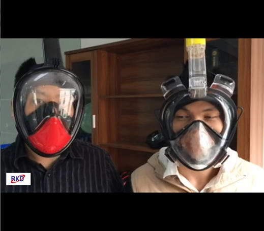 RKD snorkel mask anti-fog testing comparision with other mask