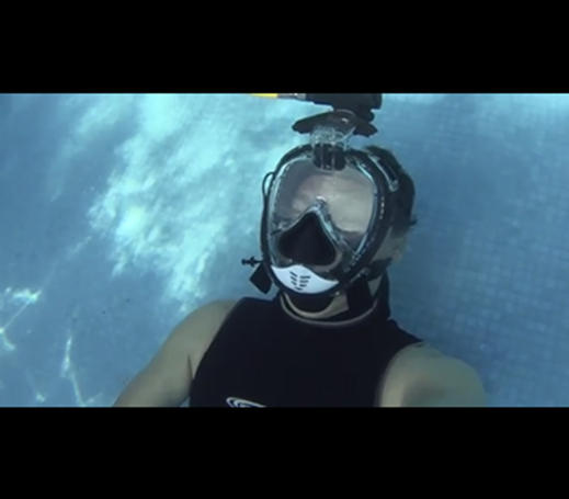 RKD R20 snorkel mask testing in Mexico