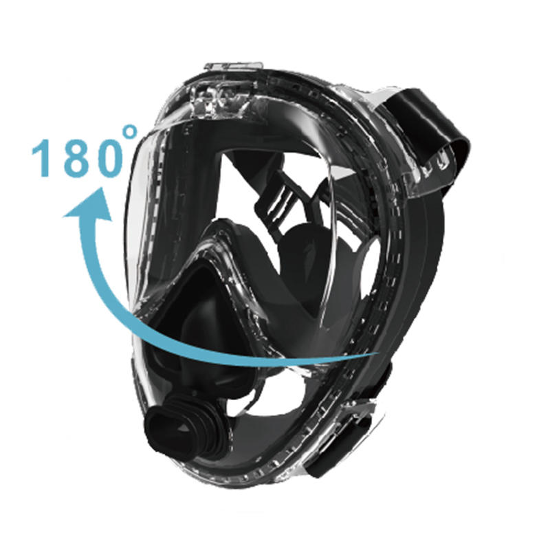 RKD All New Full Face Scuba Mask With Rotationable  Go Pro Mount D40