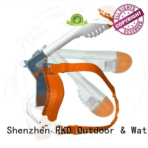 durable snorkel face mask orange from China for swimming
