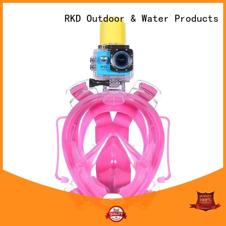 RKD one-piece full face snorkel mask for adult with go pro mount R10G